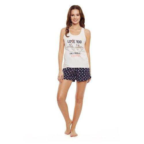 Piżama ladies 35831 danni sz/r s-xl xl, różowy jasny-granatowy, henderson marki Henderson