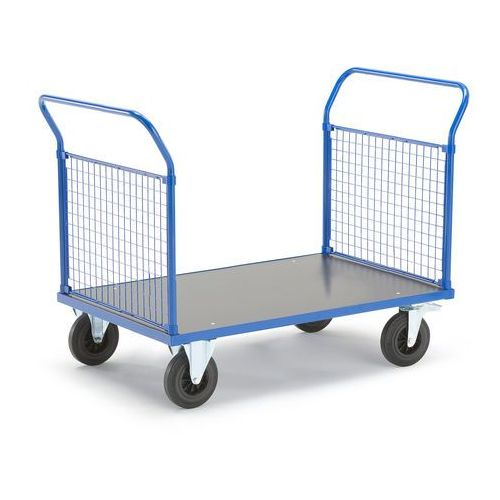 Aj produkty Wózek platformowy, 2 ramy końcowe z siatki, 1365x800 mm, z hamulcami