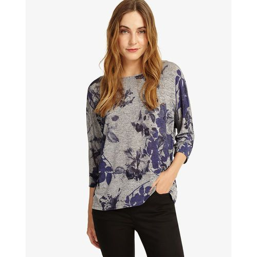 Phase Eight Selena Slinky Floral Top, kolor szary