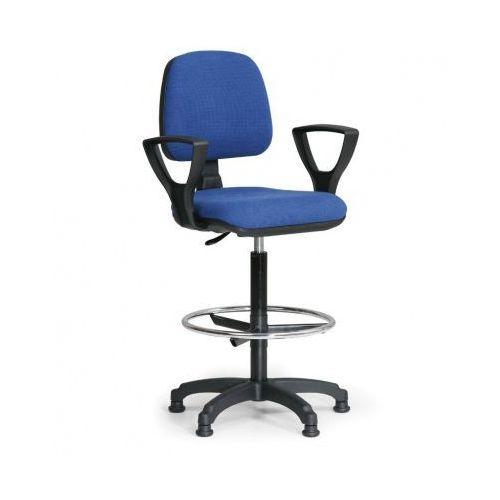 B2b partner Podwyższone krzesło milano z podłokietnikami - niebieske