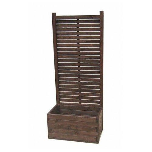 Drewniana prostokątna donica ogrodowa z pergolą - luisa marki Elior