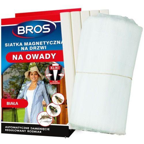 Moskitiera na drzwi na magnesy Bros biała 160x220cm