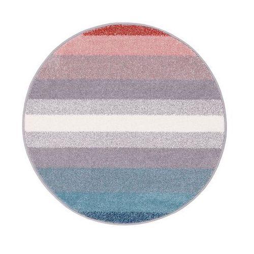 Agnella Dywan okrągły simp niebiesko-czerwony śr. 100 cm (5901760135696)