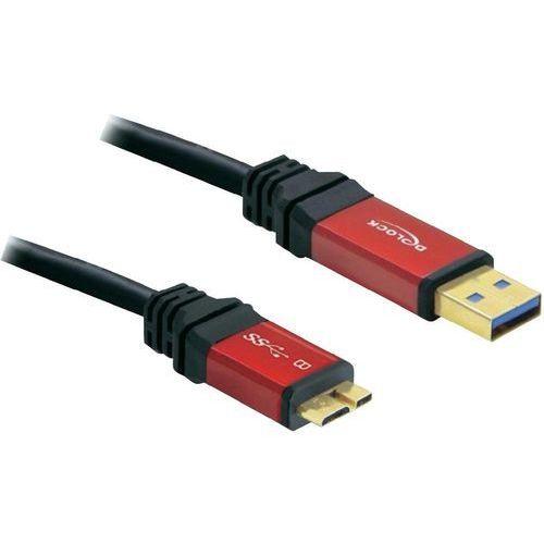 Kabel USB 3.0 Delock 82762, [1x złącze męskie USB 3.0 A - 1x złącze męskie micro-USB 3.0 B], 3 m, czerwony, czarny, 82762