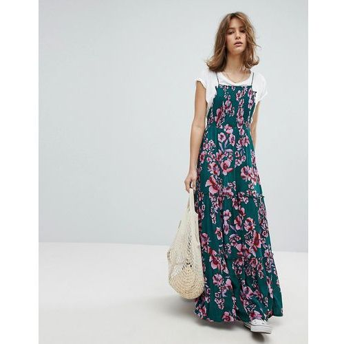 Free people garden party print maxi dress - green