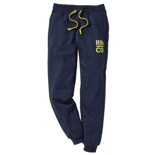 Spodnie dresowe Slim Fit bonprix ciemnoniebieski, dresowe