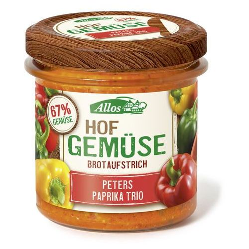 Pasta warzywna z trzema rodzajami papryki BIO 135g. - ALLOS - produkt z kategorii- Zdrowa żywność