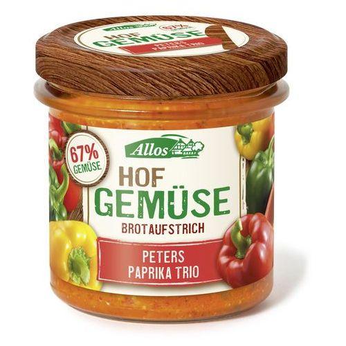 Pasta warzywna z trzema rodzajami papryki bio 135g. - marki Allos