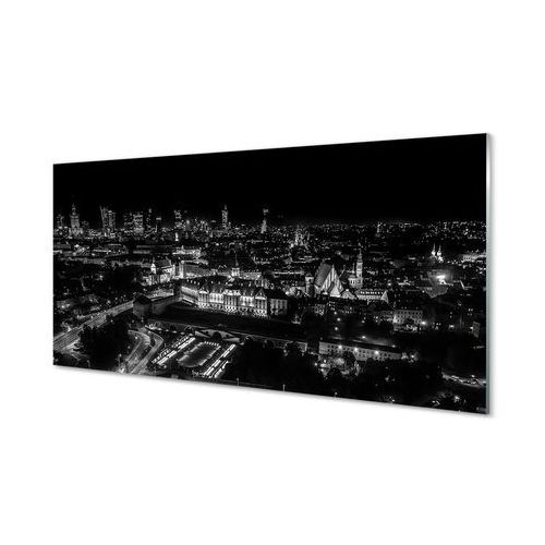 Obrazy akrylowe warszawa panorama noc wieżowce marki Tulup.pl