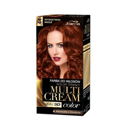 Farba do włosów Joanna Multi Cream Color intensywna miedź 44, 525096