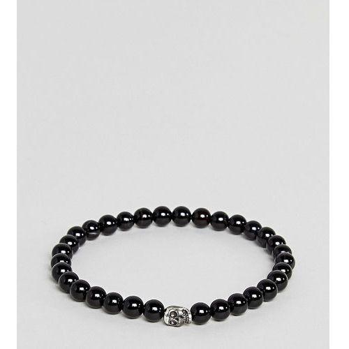 Simon carter black beaded bracelet with sterling silver charm - black