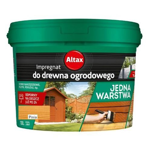 - impregnat do drewna ogrodowego, pinia, 10 l marki Altax
