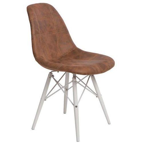 Krzesło P016W Pico brązowe/white, kolor brązowy