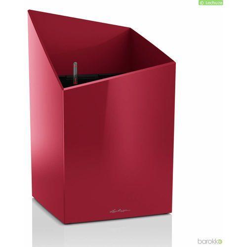 Lechuza Donica cursivo premium 30 - czerwona, połysk - czerwony (4008789166050)