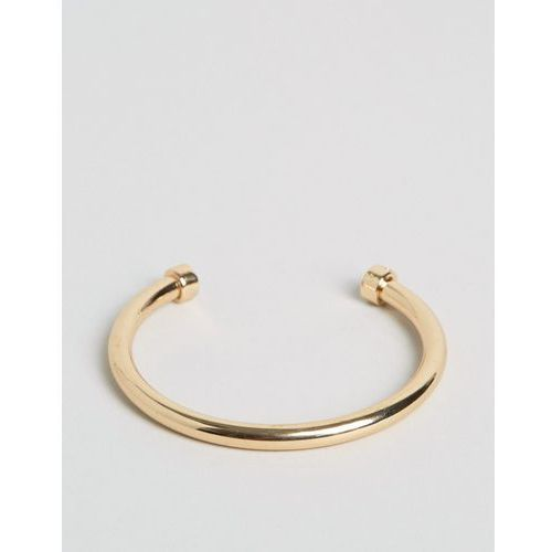 Chained & Able bar bangle bracelet in gold - Gold