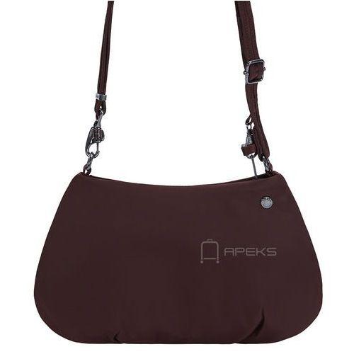 Pacsafe citysafe cx crossbody torebka damska antykradzieżowa na ramię / bordowa - merlot