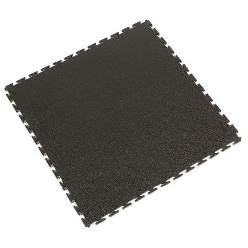 Coba plastics Płyta podłogowa z pcv, z porowatą powierzchnią, opak. 8 szt., czarny. trwałe i s
