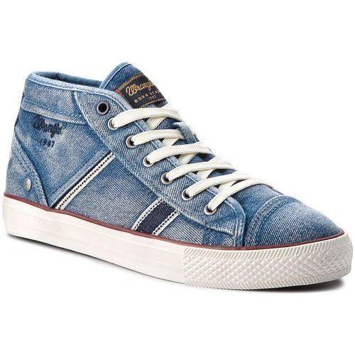 Wrangler Sneakersy - starry mid denim wm181032 lt.blue 12