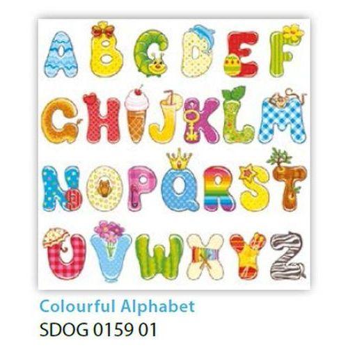 Pol-mak Serwetki 33 x 33 cm sdog 015901 kolorowy alfabet