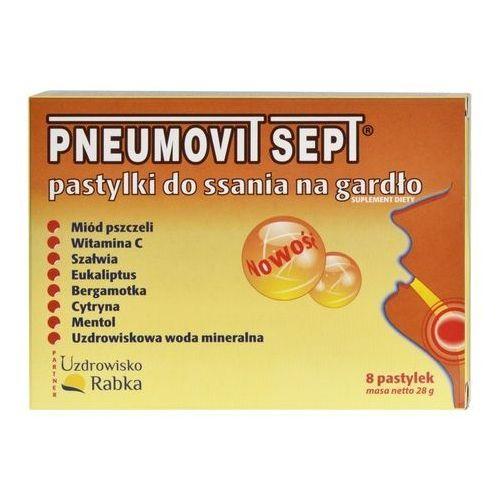 Pastylki Pneumovit SEPT GorVita pastylki do ssania do gardła infekcje wirusowe bakteryjne 8szt