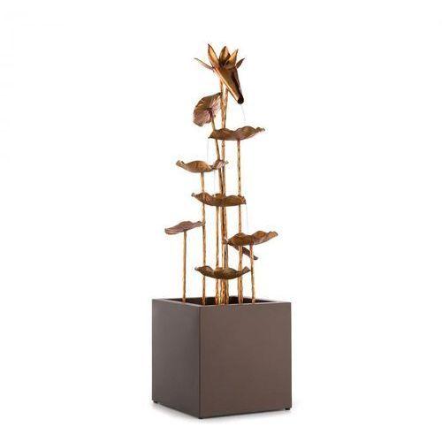 Blumfeldt golden orchid fontanna ogrodowa pompa o mocy 5 w ipx8 imitacja mosiądzu