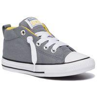 Converse Trampki - ctas street mid 665132c cool grey/vivid sulfur/white