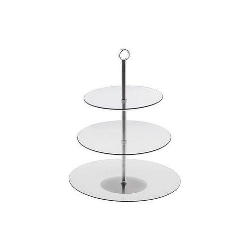 Patera szklana okrągła 3 poziomy 20/25/29 cm