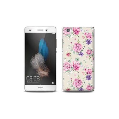 Huawei P8 Lite - etui na telefon Full Body Slim Fantastic - pastelowe różyczki
