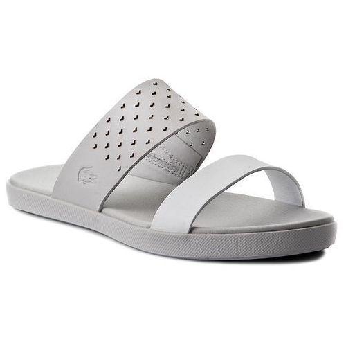 Klapki - natoy sandal 117 1 caw 7-33caw10242q5 lt gry/wht, Lacoste, 35.5-40.5
