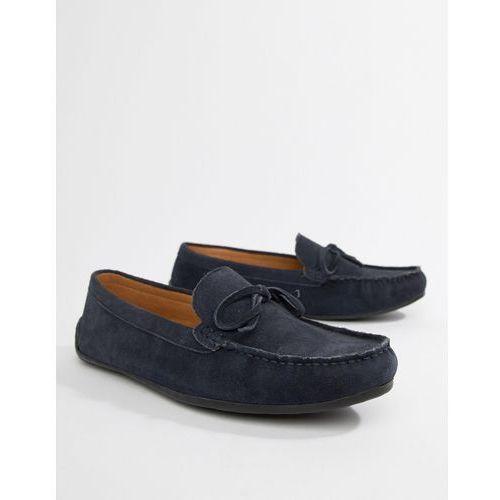 Kg by kurt geiger wide fit ringwood driving shoes in suede - blue, Kg kurt geiger