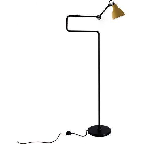 n°411 - lampa podłogowa - czarny/żółty marki Lampe gras