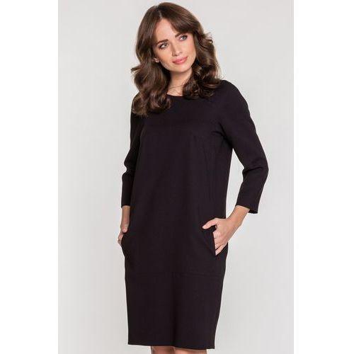 Luźna sukienka z kieszeniami - SU, 1 rozmiar