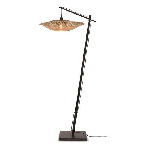 Good&mojo lampa podłogowa czarna kalimantan 60x15 kalimantan/f/ad/b/15/bn (8716248084154)