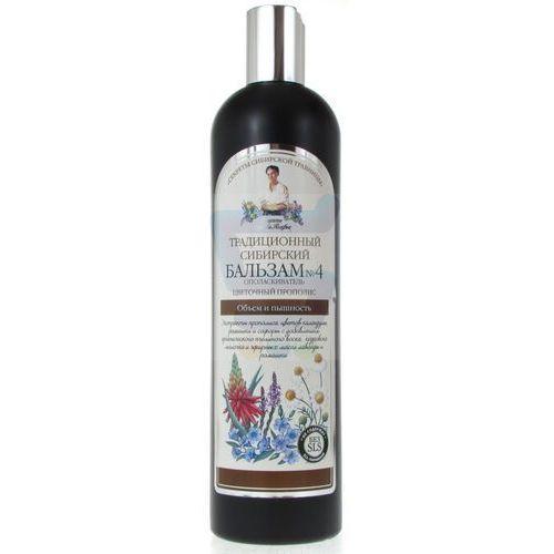 OKAZJA - RECEPTURA BABCI AGAFII balsam do włosów tradycyjny syberyjski nr 4 zwiększający objętość, 550 ml, BABBA101