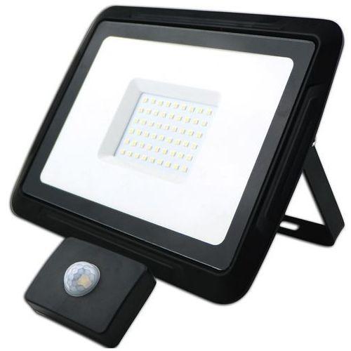 Kobi oprawa lampa naświetlacz halogen led 50w barwa zimna z czujnikiem ruchu i zmierzchu 13150