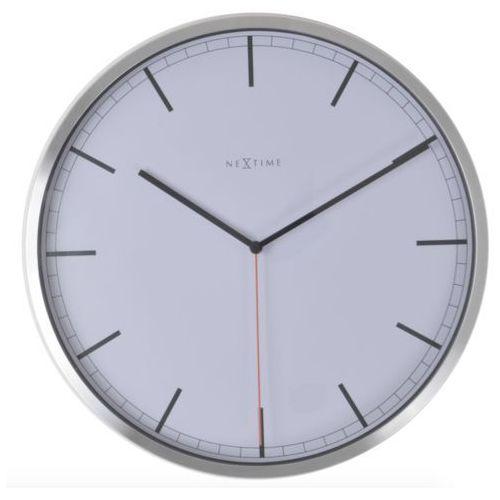 Nextime:: Zegar Ścienny Company biały Ø35cm - biały