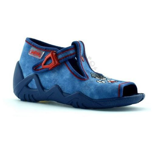 Kapcie dziecięce Befado 217P088 Snake - Niebieski   Granatowy, kolor Niebieski