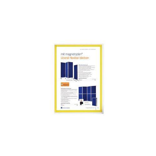 Koszulka magnetyczna A4 ramka żółta 5szt, MAGN1130302