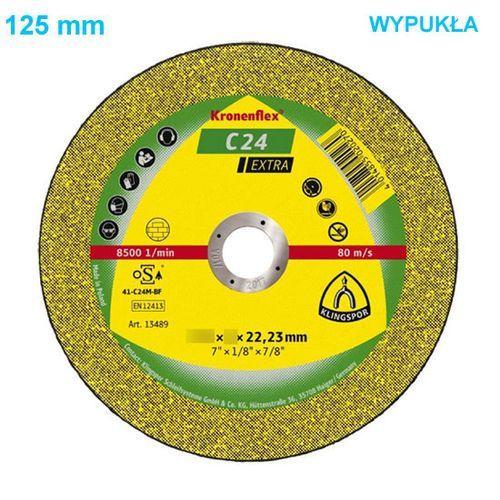 Tarcza do cięcia Kronenflex C 24 Extra 125 x 2,5 x 22 mm WYPUKŁA