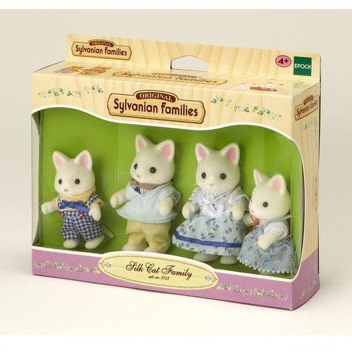 Sylvanian Families, rodzina jedwabistych kotków, zestaw figurek, 3143 z kategorii Pozostałe lalki i akcesoria