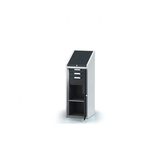 Szafa warsztatowa z nadstawką - 1 półka, 3 szuflady
