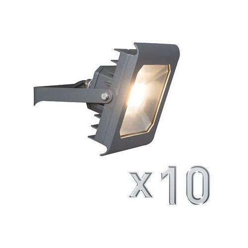 Qazqa Led naswietlacz radius 4 30w ciemno szary zestaw 10 sztuk