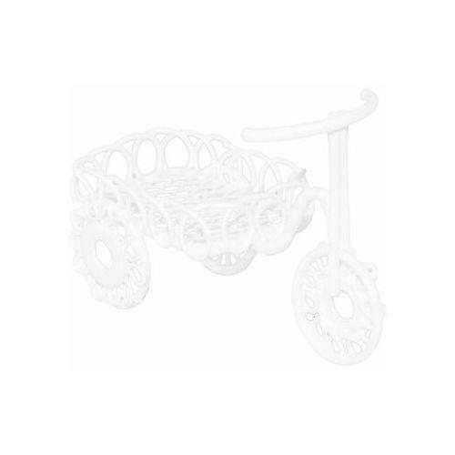 Rower metalowy mini 7 x 3,8 x 3,5 cm biały do lasu w słoiku (5903039407718)