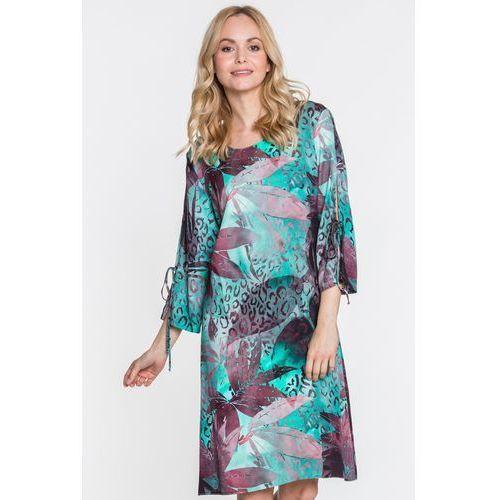 Jelonek Morska sukienka w liście olavia -