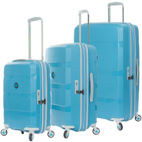 zip2 zestaw walizek / komplet / walizki na 4 kółkach / hip hop blue - hip hop blue marki Bg berlin