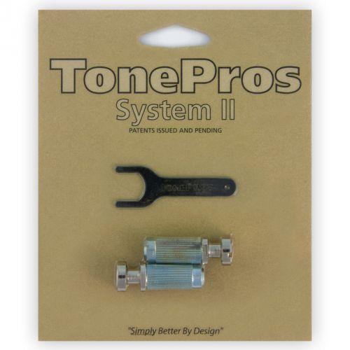 vnm1-n - g-style locking studs, części mostka do gitary, niklowane marki Tonepros