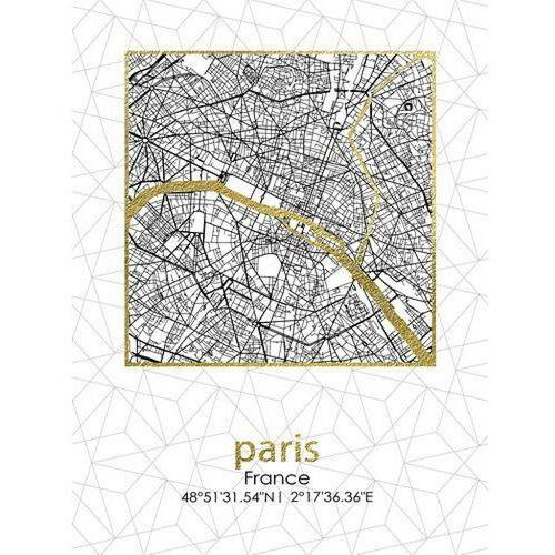 Obraz 45x60x1,8cm plan miasta paris marki Sofa.pl