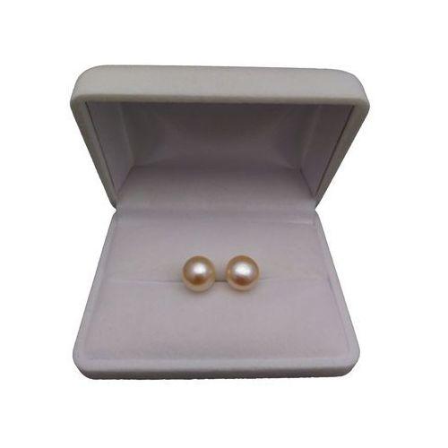 Perlyikamienie.pl Kolczyki z różowymi perłami 10-10,5 mm pk08-b