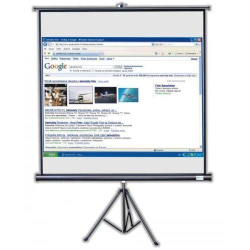 Ekran ręcznie rozwijany na trójnogu Avers Tripod 240x240cm, 1:1,Matt White E, 406