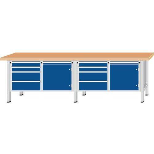 Stół warsztatowy, bardzo szeroki,2 drzwi, 8 szuflad z częściowym wysunięciem marki Anke werkbänke - anton kessel